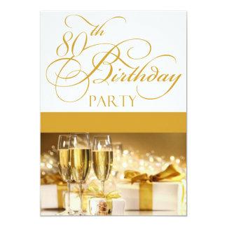"80th Birthday Party Personalized Invitation 5"" X 7"" Invitation Card"