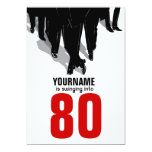 80th Birthday Party Swingers Rat Pack Personalised Announcements