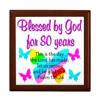 80TH BIRTHDAY PRAYER LARGE SQUARE GIFT BOX