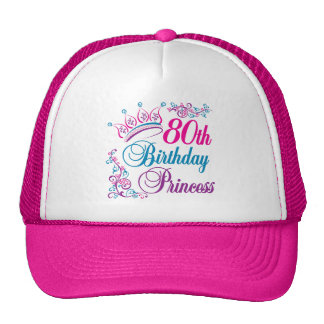 80th Birthday Princess Hats