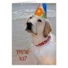80th Birthday Retriever Card