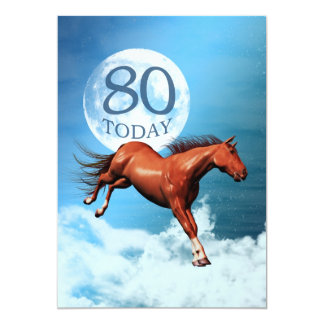 80th birthday Spirit horse party invitation