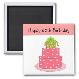 80th Birthday Square Magnet