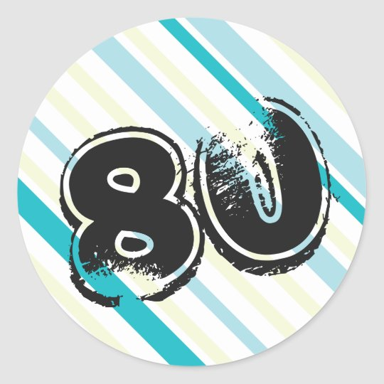 80th Birthday Stickers - 80 years Bday