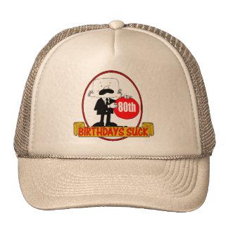 80th Birthday Sucks Gifts Hats