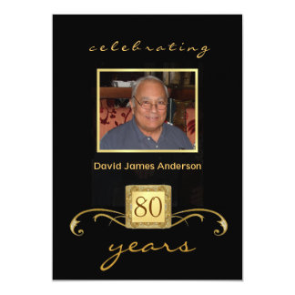 80th Birthday Surprise Party Invitations - Formal