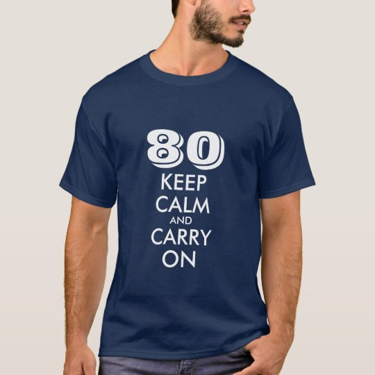 80th Birthday t shirt for men | Keep