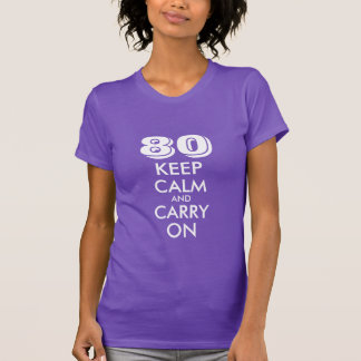 80th Birthday t shirt for women | Customizable age