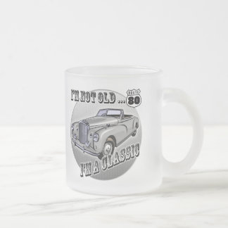 80th Birthday T-shirts and Gifts Frosted Glass Coffee Mug
