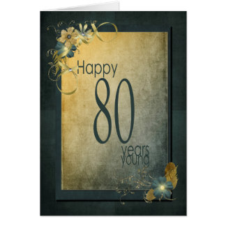 80th Birthday-vintage frame Card