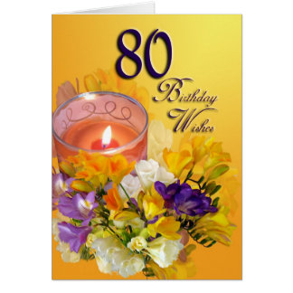 80th Birthday Wishes Birthday Card