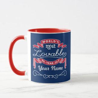 80th Birthday World's Most Lovable 80-Year-Old Mug