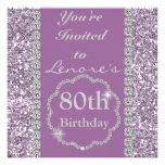 80th BLING Birthday Party Invitation
