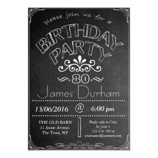 80th Chalkboard Birthday Celebration Invitation
