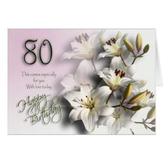 80th Happy Birthday Card