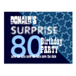 80th Surprise Birthday Save the Date Diagonal VB21