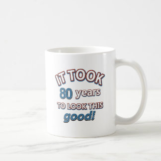 80th year birthday designs coffee mug