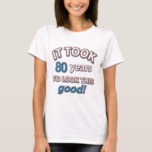 80th Year Birthday Designs T Shirt