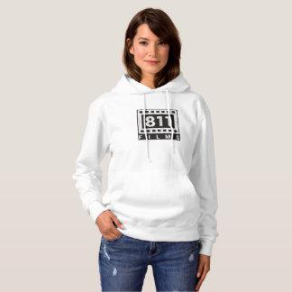 811 Films DISTRESSED LOGO hooded sweatshirt