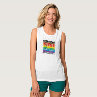 811 Films New Rainbow Logo muscle tank top