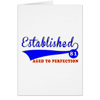 81 Birthday Aged To Perfection Card