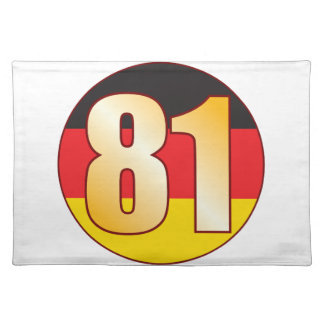 81 GERMANY Gold Placemat