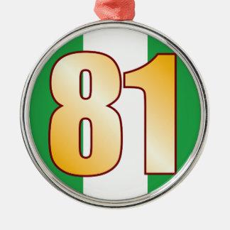 81 NIGERIA Gold Silver-Colored Round Decoration