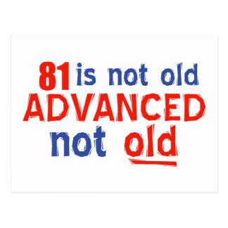 81 year old birthday designs postcard