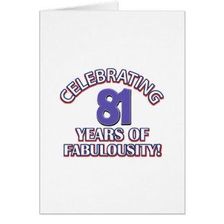 81 years design greeting card