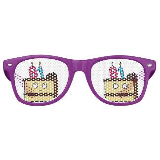 81st Birthday Cake with Candles Retro Sunglasses