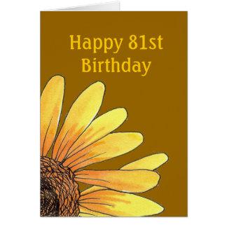 81st Birthday Card