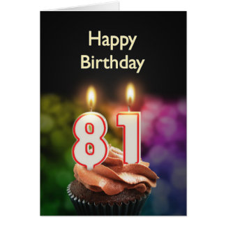 81st Birthday card with Candles