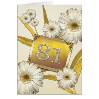 81st Birthday card with daisies.