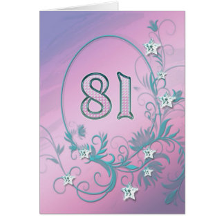 81st Birthday card with diamond stars
