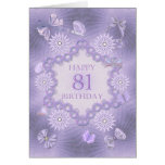 81st birthday card with lavender flowers