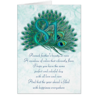 81st birthday decorative numbered cards