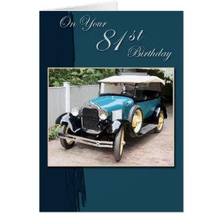 81st Birthday Greeting Card