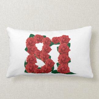 "81st Birthday Lumbar Pillow 13"" x 21"""