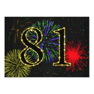 81st birthday party invitate 5x7 paper invitation card