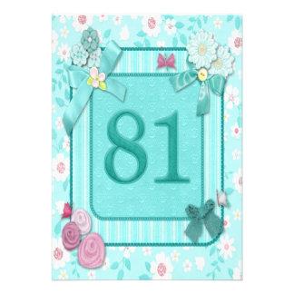 81st birthday party invitation