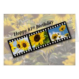 81st Birthday Sunflower Filmstrip Card