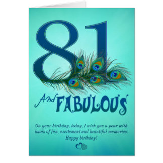 81st Birthday template Cards