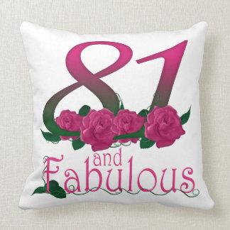 """81st birthday Throw Pillow 20"""" x 20"""""""