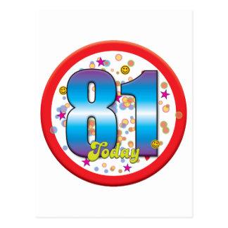81st Birthday Today v2 Postcards