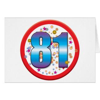 81st Birthday v2 Greeting Card