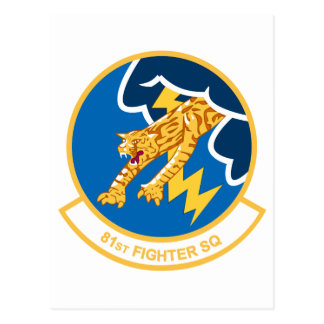 81st Fighter Squadron Postcard