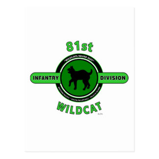 "81ST INFANTRY DIVISION ""WILDCAT"" DIVISION POSTCARD"