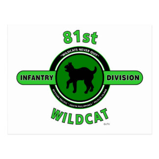 """81ST INFANTRY DIVISION """"WILDCAT"""" DIVISION POST CARD"""