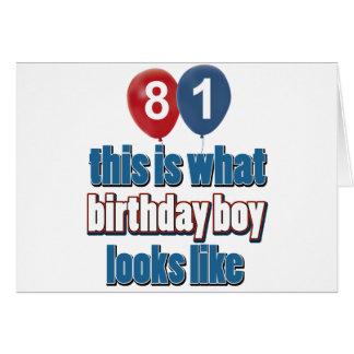 81st year birthday designs greeting card