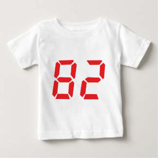 82 eighty-two red alarm clock digital number t shirts